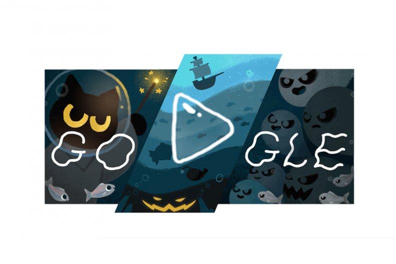 Momo the cat google doodle