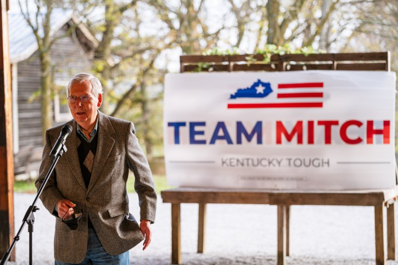 mitch mcconnell campaigns in kentucky 2020
