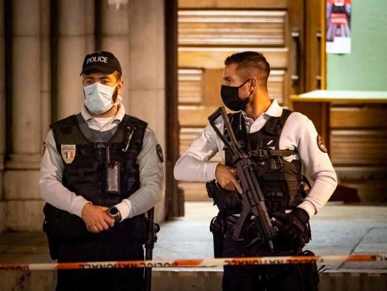 Police patrol in Nice
