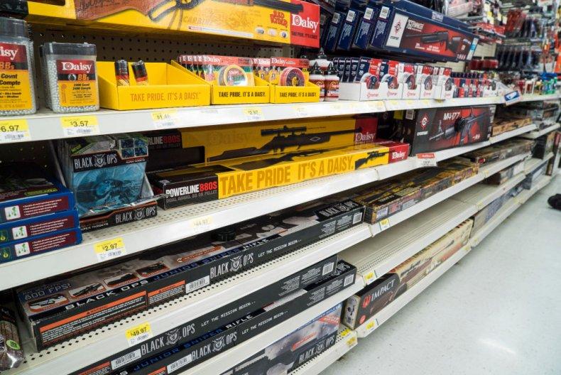Guns at Walmart