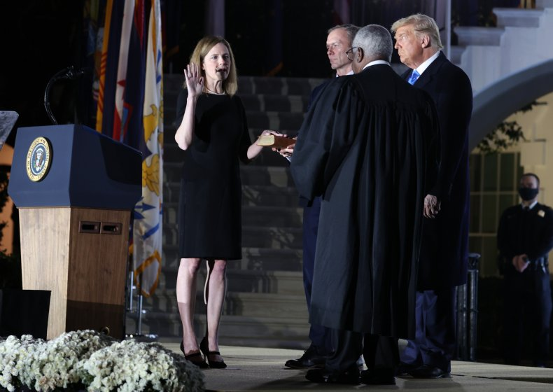 Justice Amy Coney Barrett sworn in by