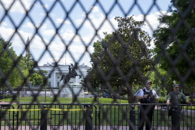 White House, fence, barrier, unrest, protests, election