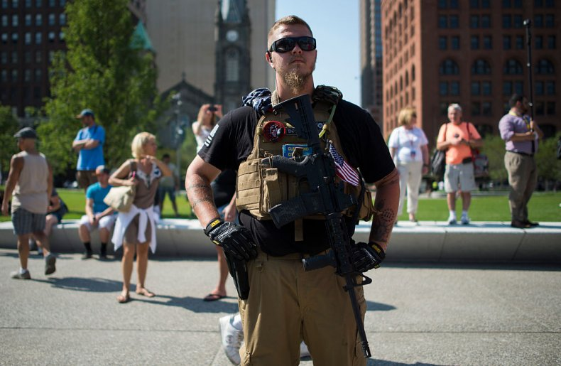 Ohio Militiamen Republican Rally