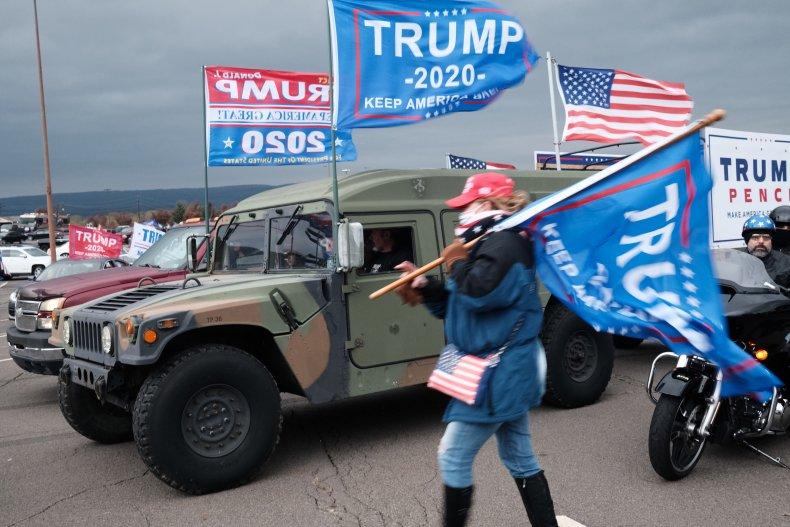Trump flags