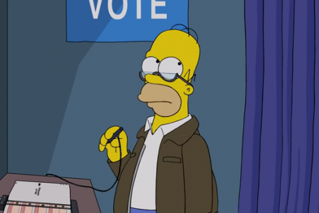 homer votes trump simpsons treehouse horror