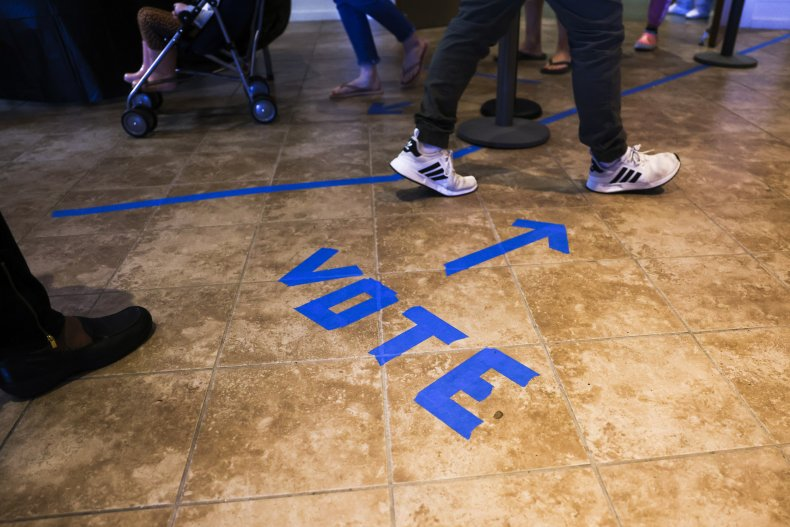 Voters Head to Voting Booths