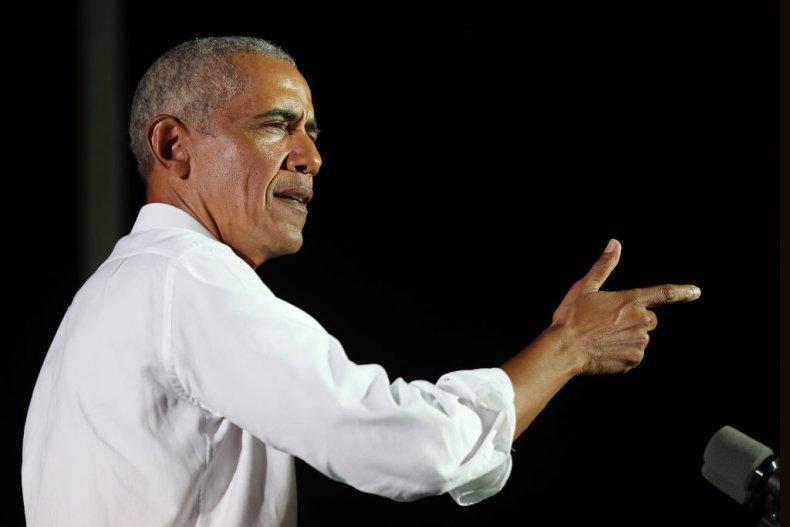 Former President Barack Obama Speaks in Miami