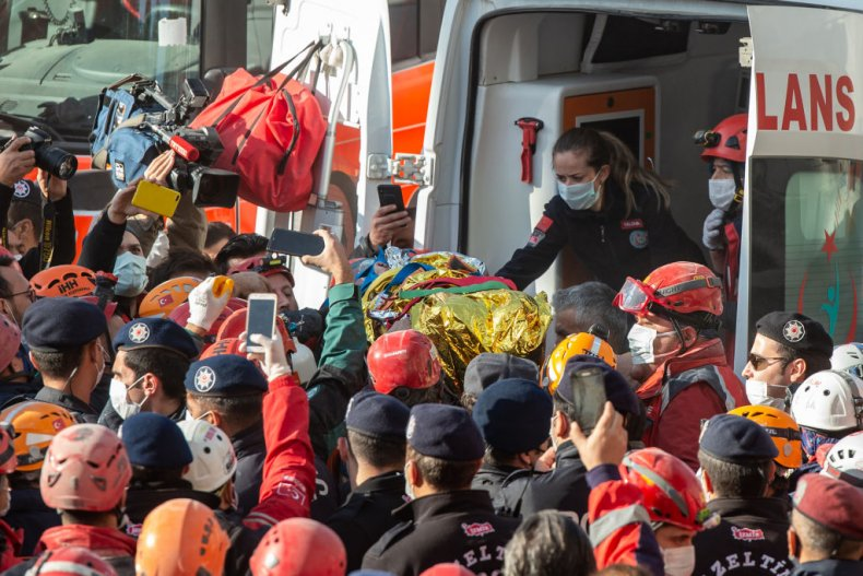Ayda Gezgin was pulled from rubble Izmir
