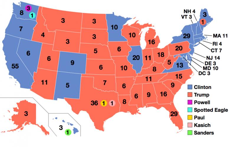 Electoral College Map 2016