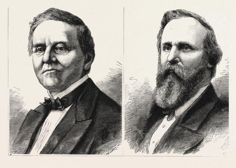 #2. 1876: Rutherford Hayes vs. Samuel Tilden