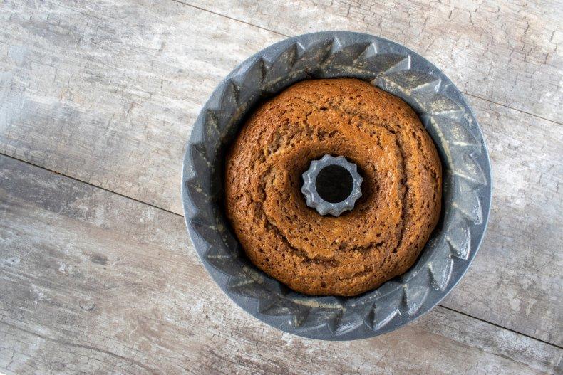 Cake in tube pan