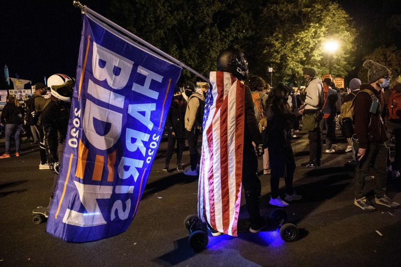 protests, election night