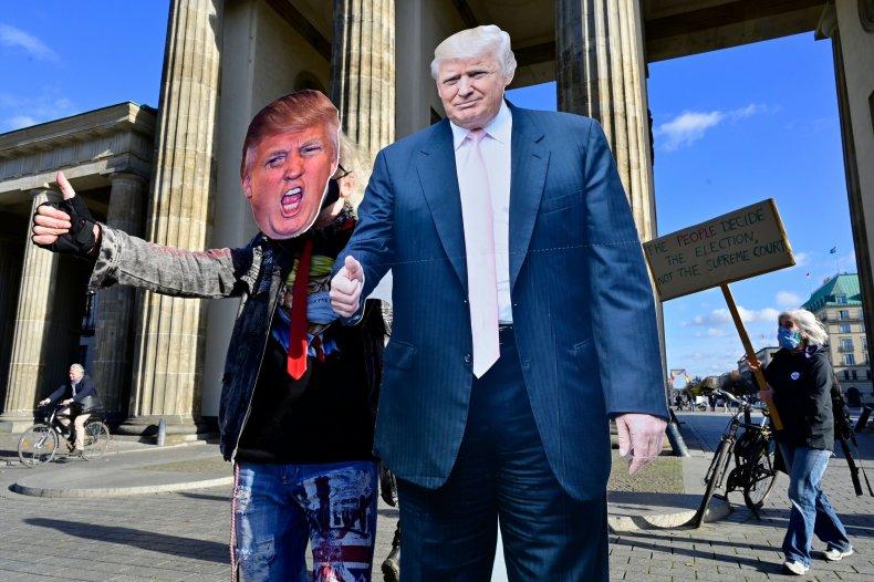berlin, germany, demonstration, donald, trump, election