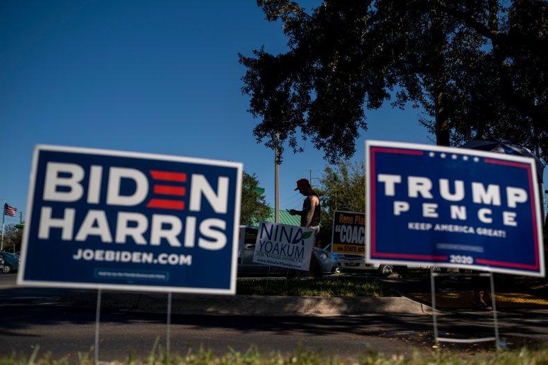 Trump and Biden Florida Signs