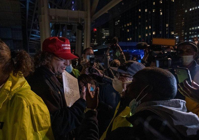 Detroit Election Protest in Michigan