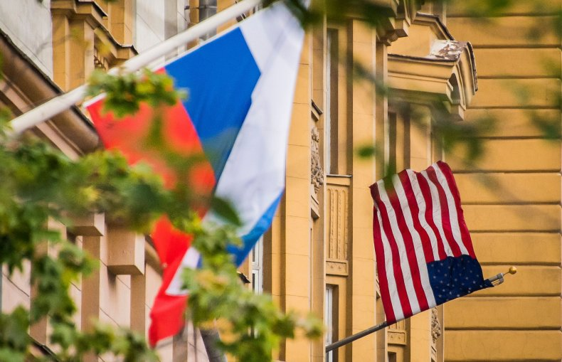 Russia-U.S. flags