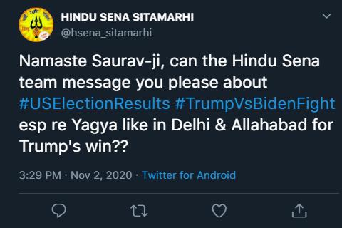 Trump hindu