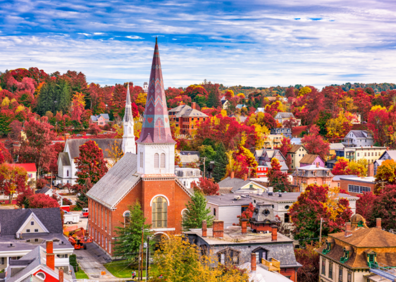 #8. Vermont (tie)