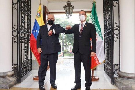 iran, zarif, venezuela, arreaza, meeting, caracas