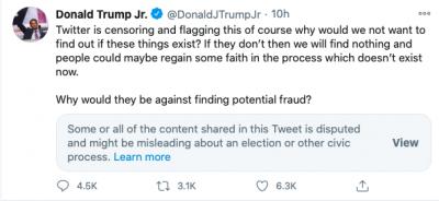 Twitter - Donald Trump Jr