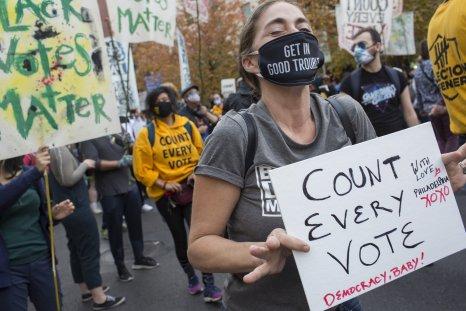 Pennsylvania ballot counting anti-Trump protests November 2020