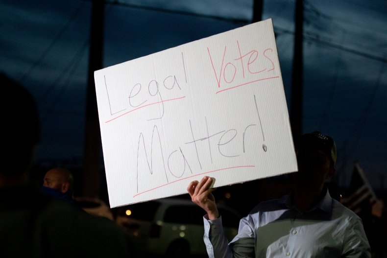 US Election Votes Protest
