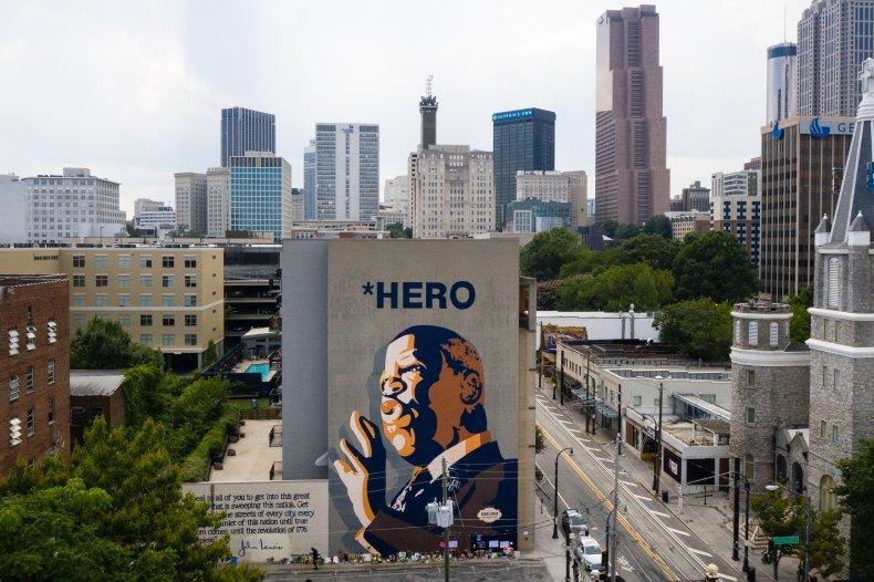 John Lewis Georgia mural July 2020