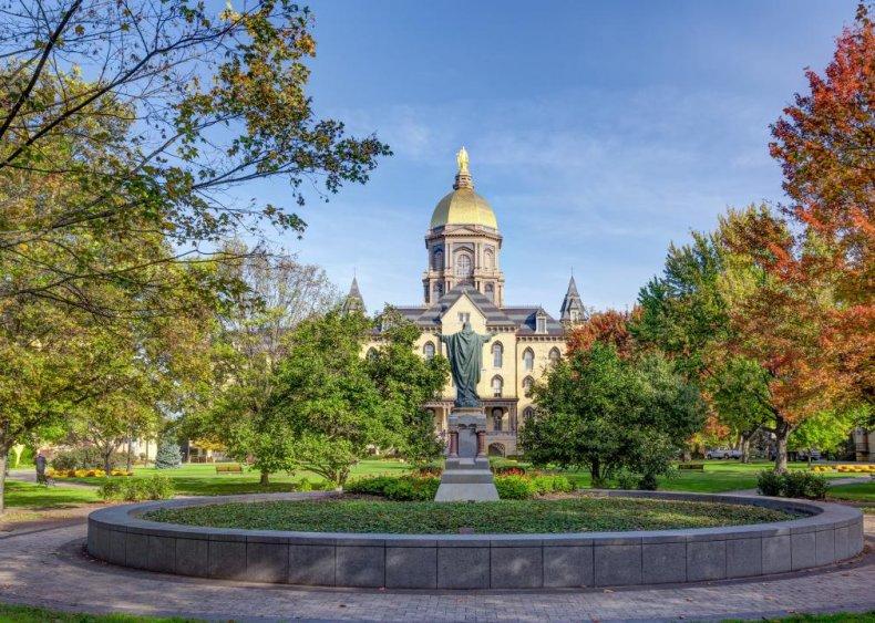 Best Catholic college: University of Notre Dame