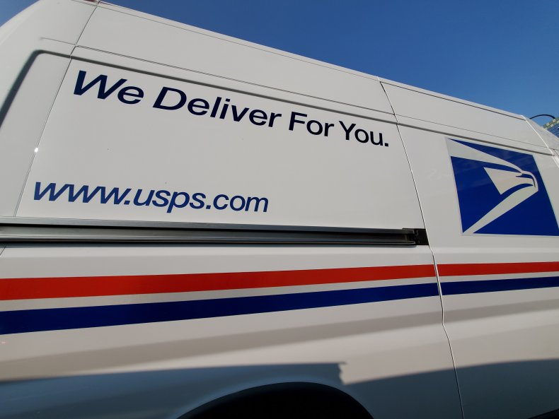 Getty Images USPS Truck 2020 Veterans Day