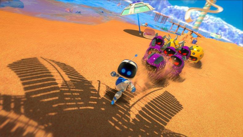 PS5 Astro's Playroom running on beach