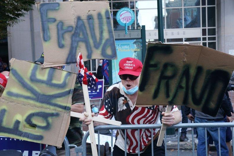 trump supporter philadelphia election fraud
