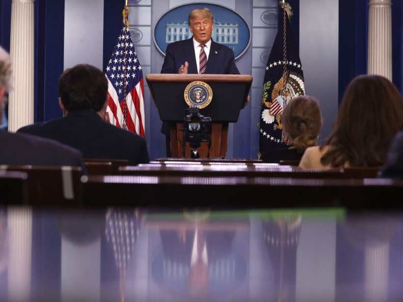 Trump Speaks in the White House