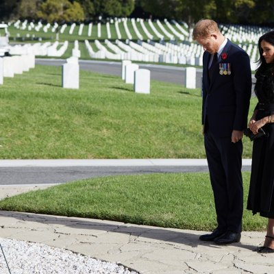 Prince Harry and Meghan Markle, Remembrance Wreath
