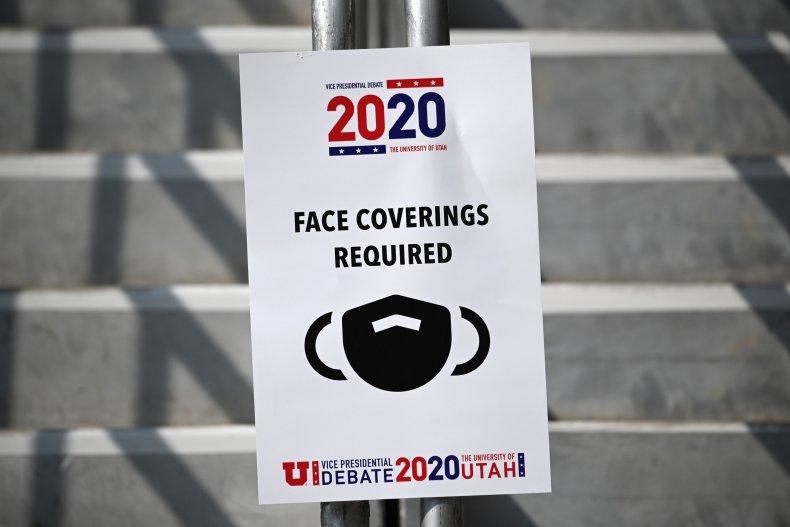 Utah VP debate October 2020 masks required