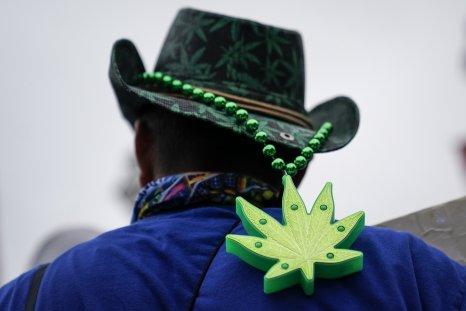 marijuana legalization supporter outside 2020 Democratic debate