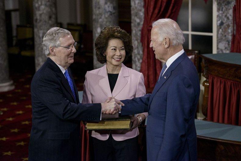 Mitch McConnell and Joe Biden