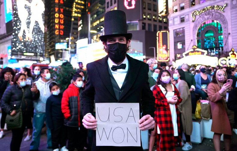 Abe Lincoln Times Square