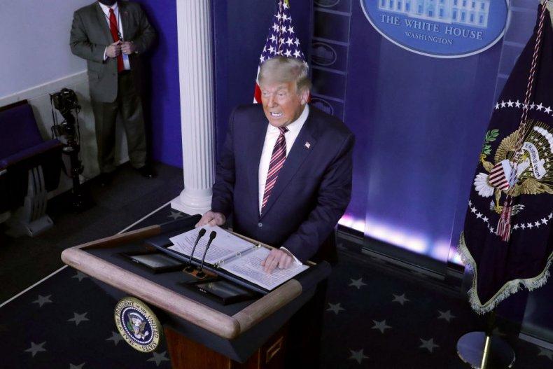 Trump Speaks in the Briefing Room