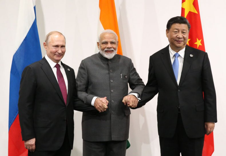 Modi Putin Xi