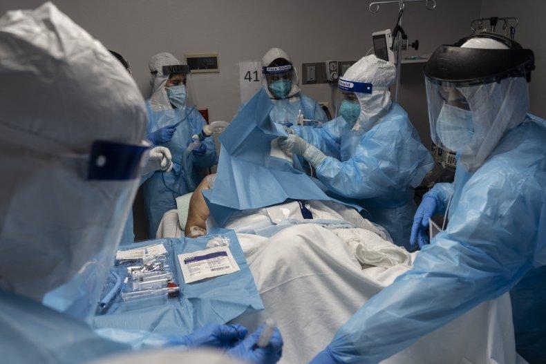 Coronavirus patient in Houston Texas October 2020