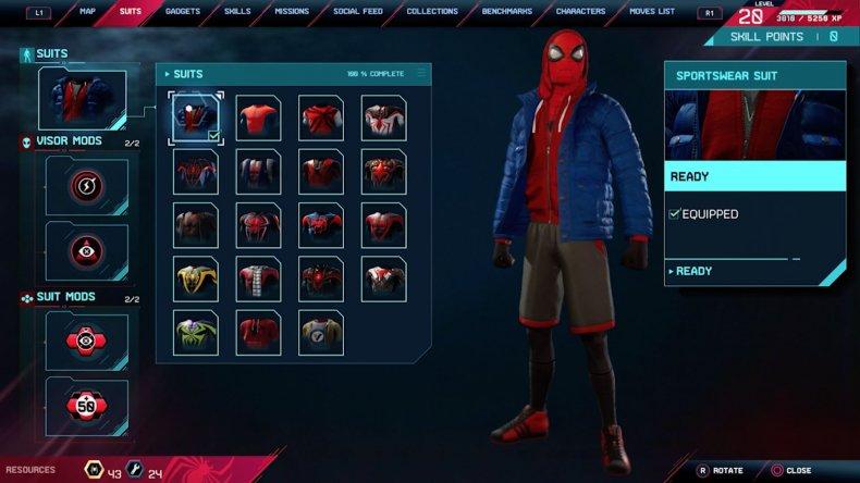 spiderman miles morales sportswear suit