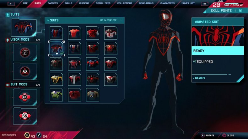 spiderman miles morales animated suit