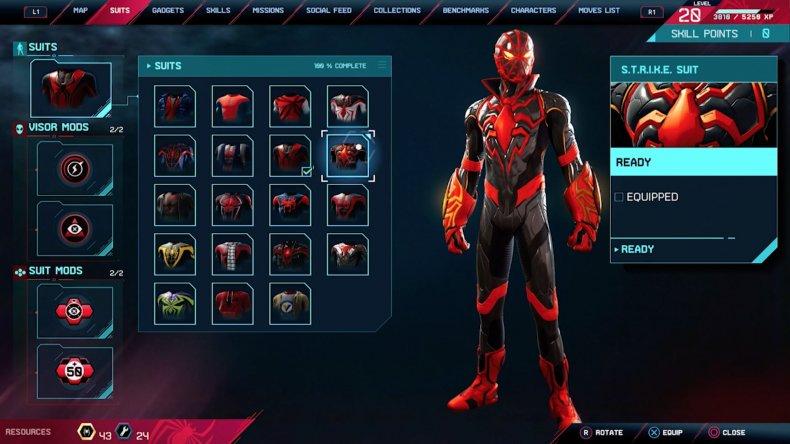 spiderman miles morales strike suit