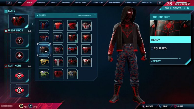 spiderman miles morales the end suit