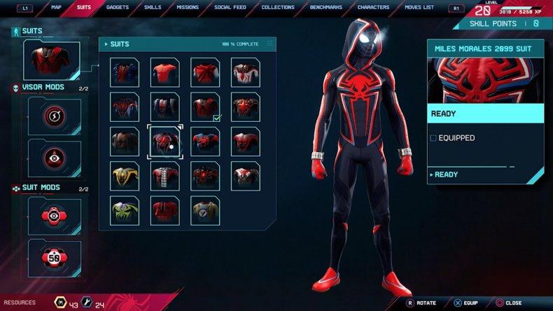 spiderman miles morales 2099 suit