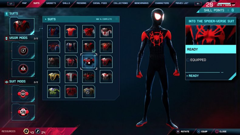 spiderman miles morales into spiderverse suit