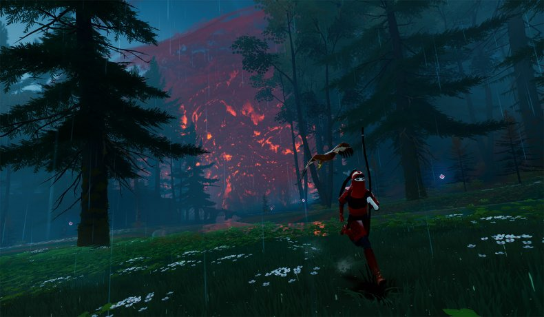 The Pathless PS5 Red Storm looms