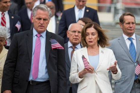 Kevin McCarthy and Nancy Pelosi Capitol Steps
