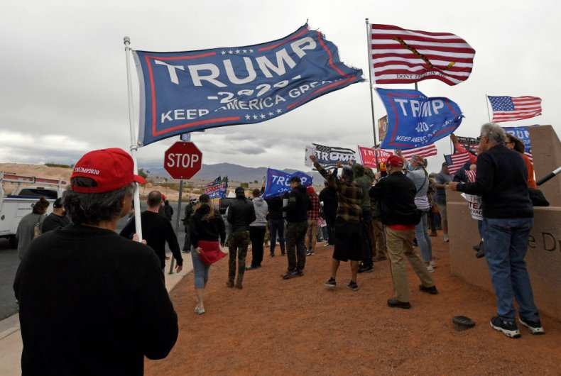 Supporters of President Donald Trump Protest