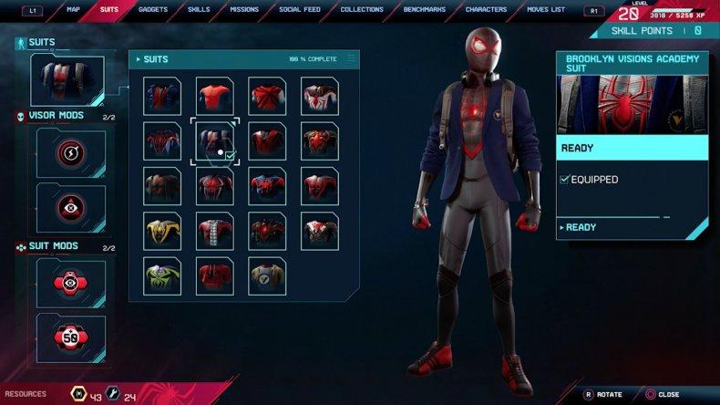 spiderman miles morales brooklyn visions academy suit